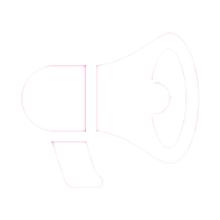 H live Megaphone white - HAPTICA ® live