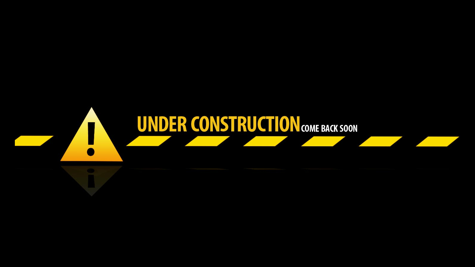 under construction - Wartungsmodus